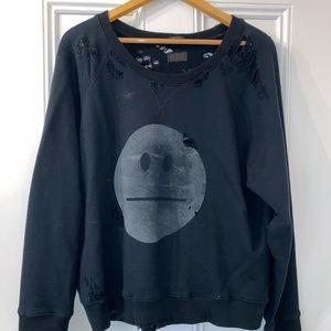 Mother Denim Ripped Sweatshirt